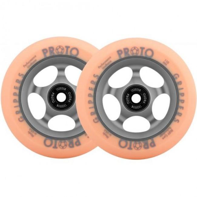 Proto Gripper Faded Scooter Wheels 110mm Grey/Orange Pair