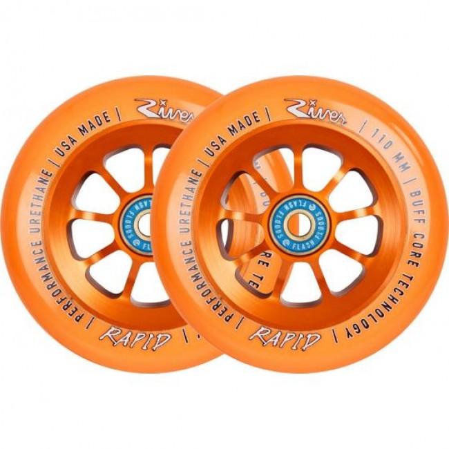 River Rapids Scooter Wheels 2 Pack Orange
