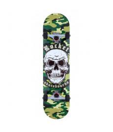 Rocket Combat Skull Complete Skateboard