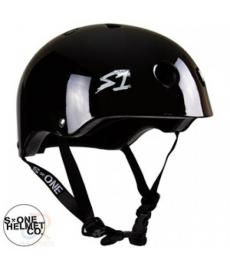 S1 Lifer Lit Scooter Helmet Gloss Black Large