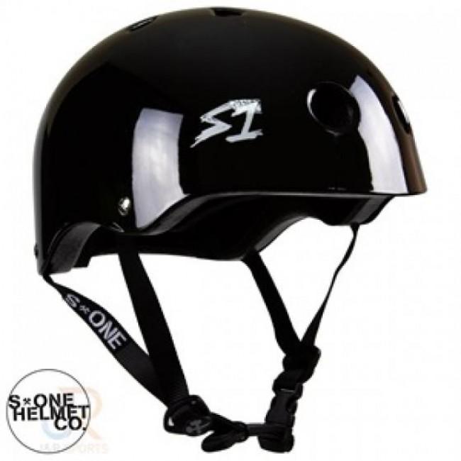 S1 Lifer Lit Scooter Helmet Gloss Black Large