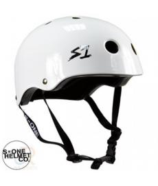 S1 Lifer Lit Scooter Helmet Gloss White Large