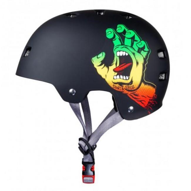 Bullet Santa Cruz Screaming Hand Rasta Helmet Black