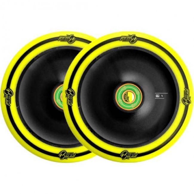 Urbanartt Original 110mm Scooter Wheels Black/Yellow 2 Pack