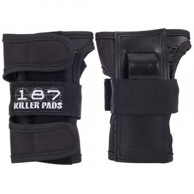 187 Killer Wrist Guard Pads Black