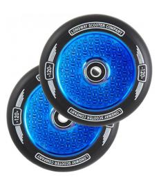 Longway Precinct V2 Hollow Scooter Wheels Blue Neo Chrome 120mm