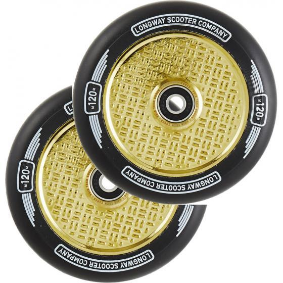Longway Precinct V2 Hollow Scooter Wheels Gold Neo Chrome 120mm