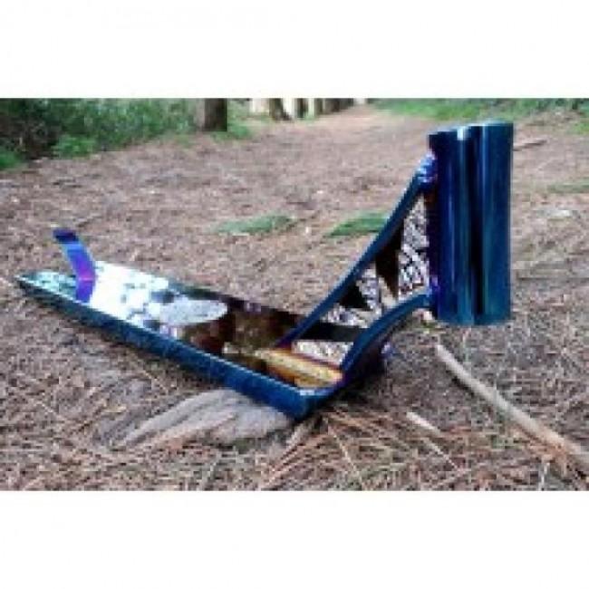 "Infinity Street Scooter Deck Blue Chrome 21"" x 5"""