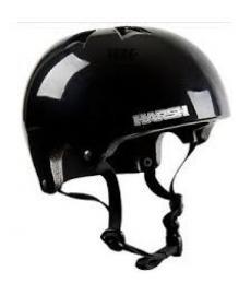 Harsh Pro EPS Helmet Gloss Black L 58-62cm