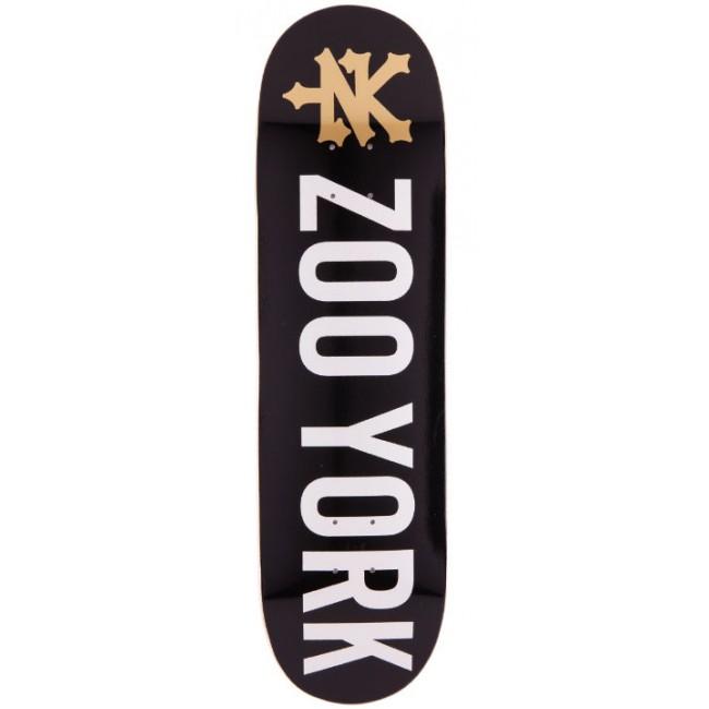 Zoo York Logo Skateboard Deck Black 8.1