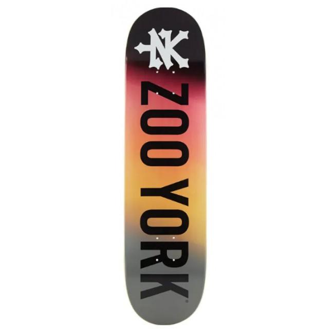 Zoo York Logo Skateboard Deck Fire 8.25