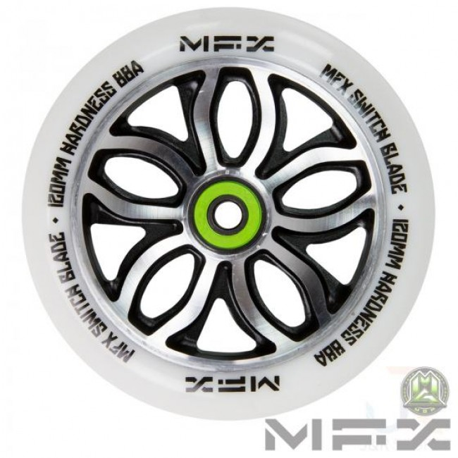 MGP MFX R WIlly Switchblade Scooter Wheel White 120mm