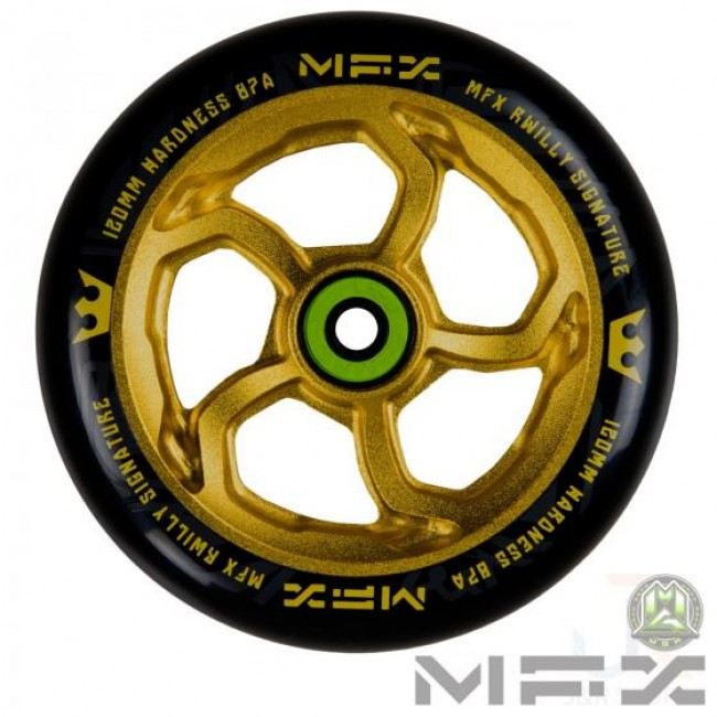 MGP MFX R WIlly Hurricane Scooter Wheel Gold 120mm
