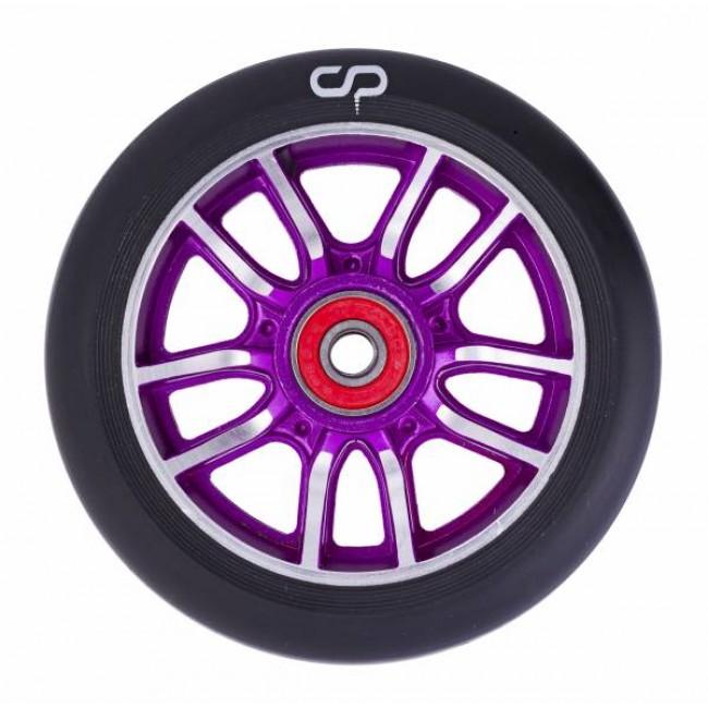 Crisp F1 Forged Scooter Wheel Purple Silver/Black PU 110mm
