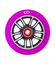 Crisp F1 Forged Scooter Wheel Black Silver/Purple PU 110mm
