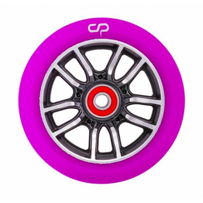 Crisp F1 Forged Scooter Wheel Black Silver/Purple PU 110mm