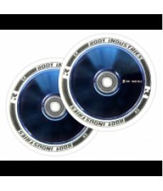 Root Industries Air Wheel White/Blue Chrome 110mm