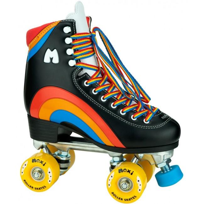 Moxi Rainbow Rider Quad Roller Skates Black