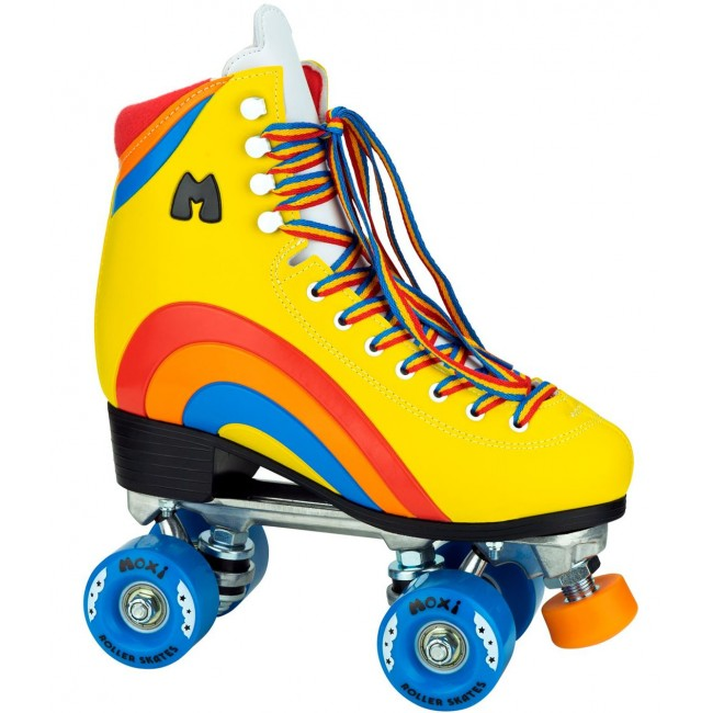 Moxi Rainbow Rider Quad Roller Skates Sunset Yellow