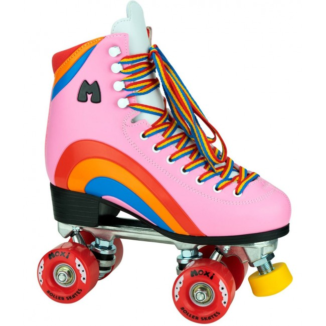 Moxi Rainbow Rider Quad Roller Skates Bubble Gum Pink
