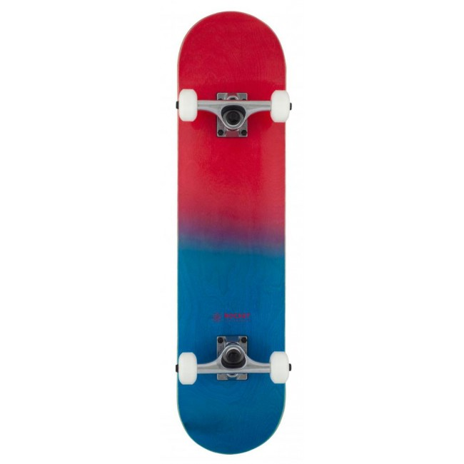 Rocket Double Dipped Complete Skateboard Red 7.5