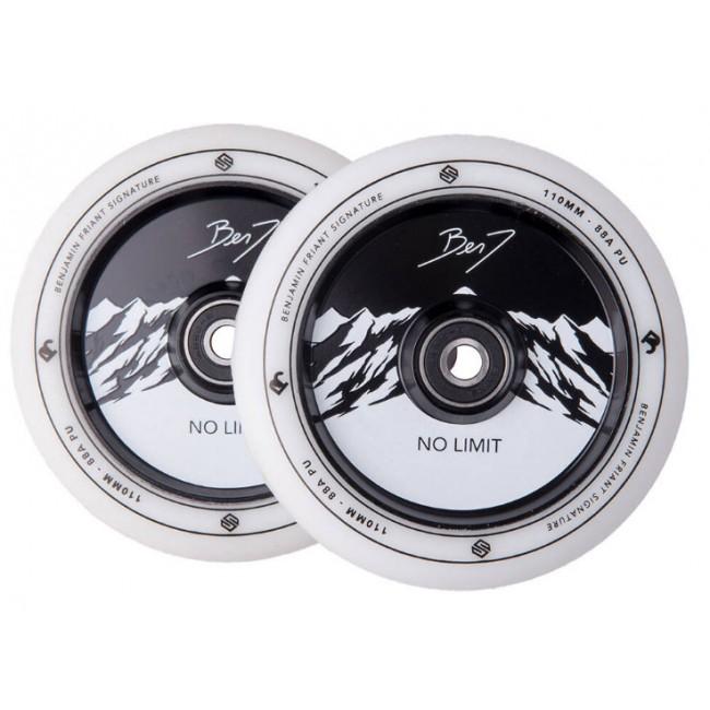 Striker BenJ No Limit Scooter Wheels White/Black 110mm