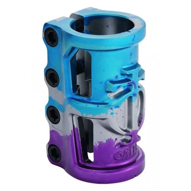Oath Cage V2 SCS Scooter Clamp Blue Purple Titanium