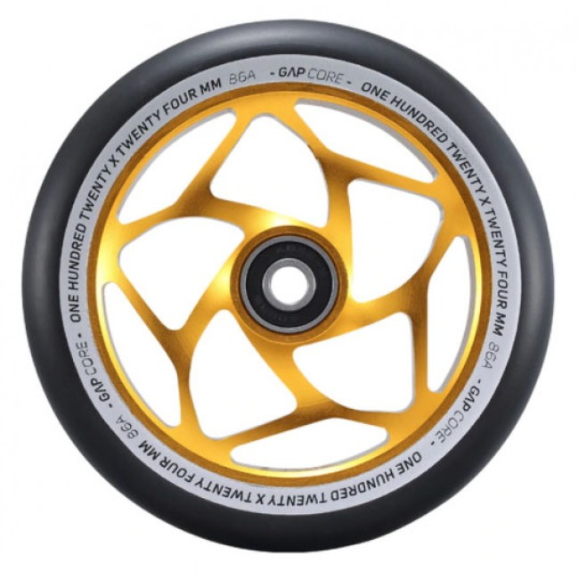 Blunt Gap Core Scooter Wheel Gold/Black 120mm