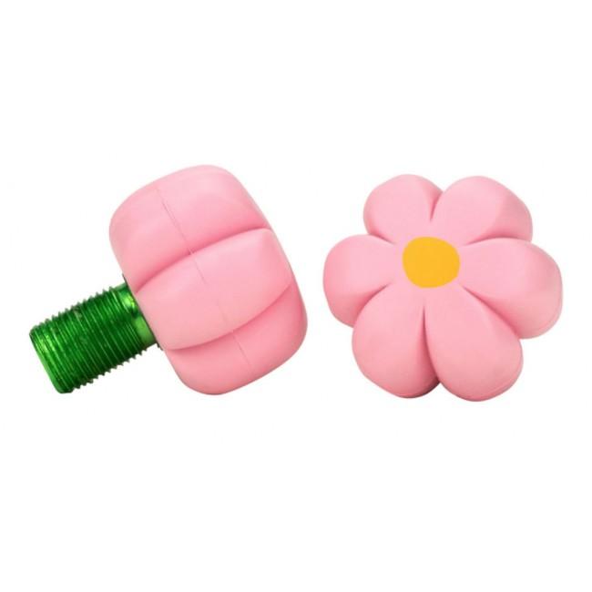 Moxi Brake Petal Toe Stops Pink Carnation Pair