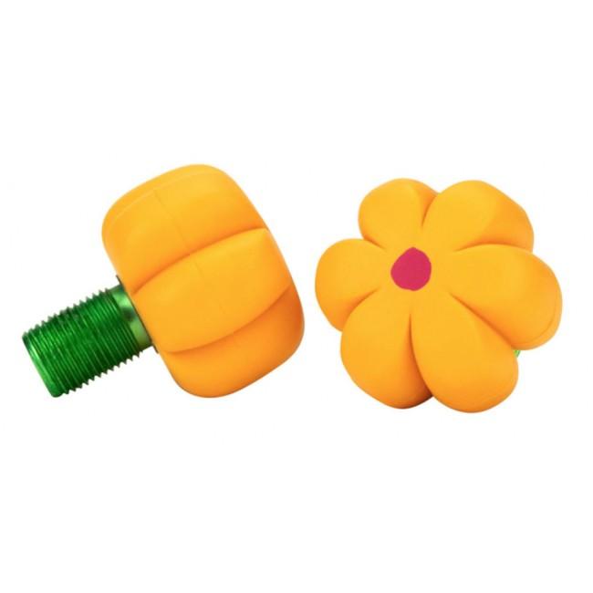 Moxi Brake Petal Toe Stops Yellow Daisy Pair