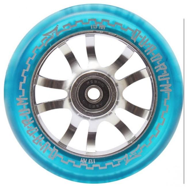 AO Quadrum Pro Scooter Wheel Transparent Blue 115mm