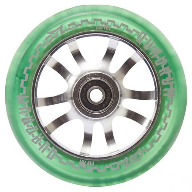 AO Quadrum Pro Scooter Wheel Transparent Green 115mm