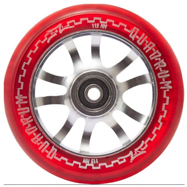 AO Quadrum Pro Scooter Wheel Transparent Red 115mm