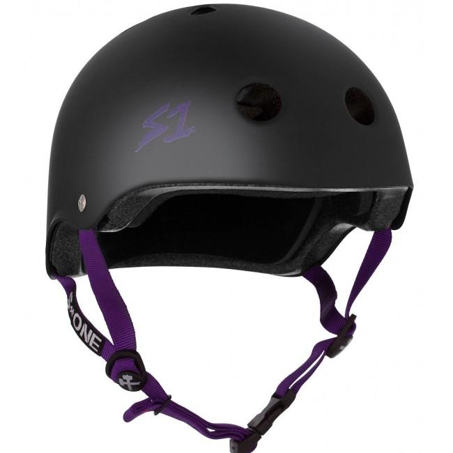 S1 Lifer Helmet Matt Black/Purple Strap