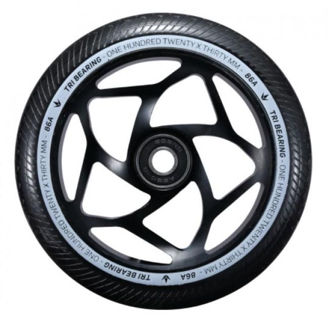 Blunt Tri Bearing Scoter Wheel Black/Black 120mm x 30mm