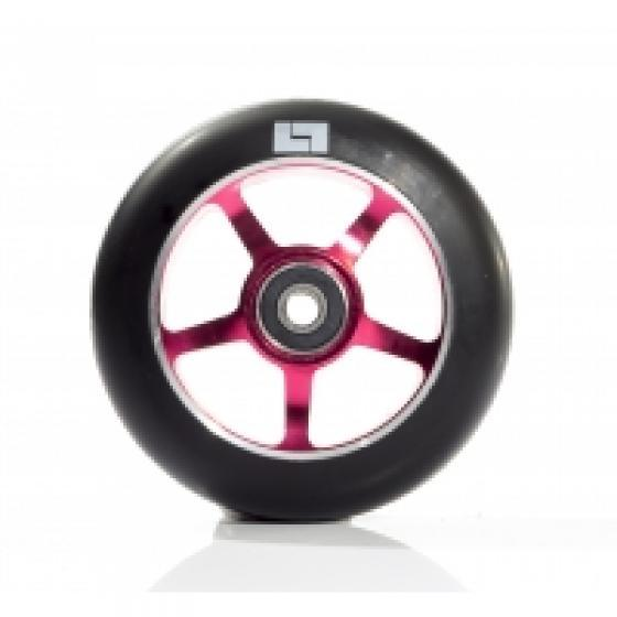 Logic 6 Spoke Classic Scooter Wheel Black/Red 110mm