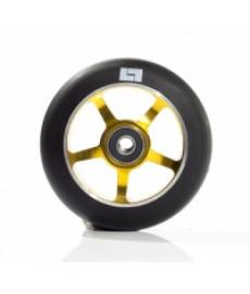 Logic 6 Spoke Classic Scooter Wheel Black/Gold 110mm