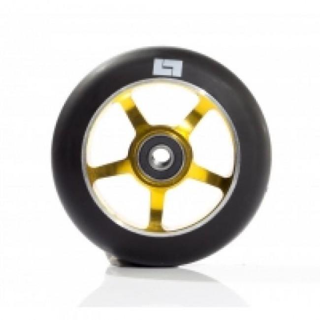 Logic 6 Spoke Classic Scooter Wheel Black/Gold 110mm