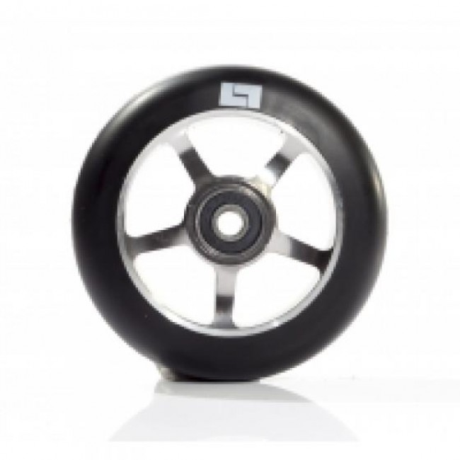 Logic 6 Spoke Classic Scooter Wheel Black/Raw 110mm