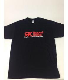 Ripped Knees Scooter T-Shirt Black Large