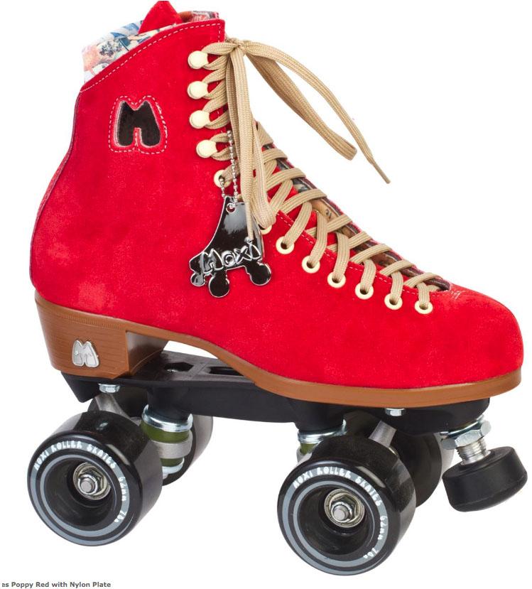 Moxi Lolly Poppy Red Quad Roller Skates