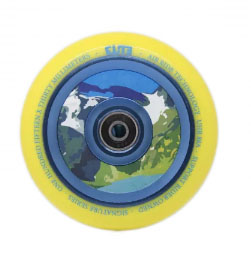 Scooters Elite Aqua Air Ride Scooter Wheels Yellow/Blue 110mm
