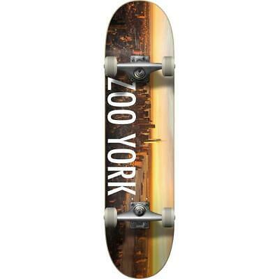 "Skateboards Zoo York Logo Block Complete Skateboard Sunrise 7.5"""