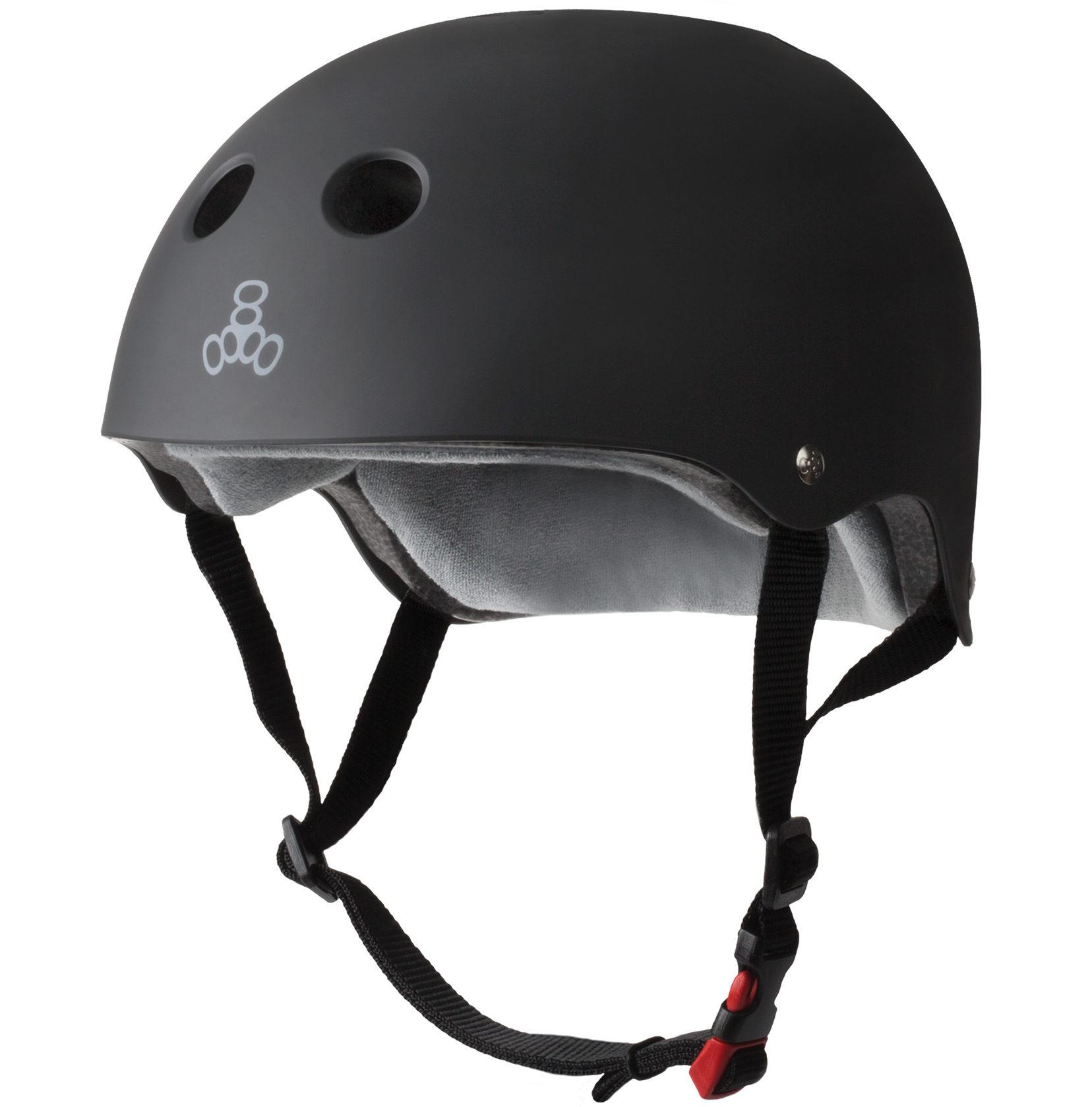 Triple 8 Sweatsaver Certified Black Rubber Helmet XS/S